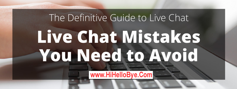 online chat room mistakes